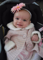 Pretty baby girl outfit picture of happy baby girl with cute head band.PNG