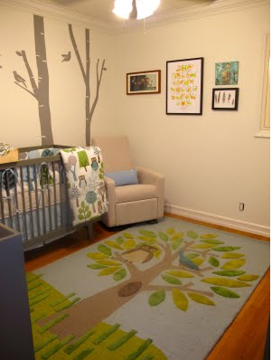 Stylish nursery for baby boy and girl with tree themed.PNG