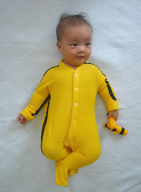 Baby Bruce Lee halloween costume.PNG