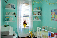 Nursery decor for baby boy with bright blue themed color.PNG