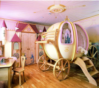 Baby Girl Cinderella's Carriage Nursery Mural.PNG