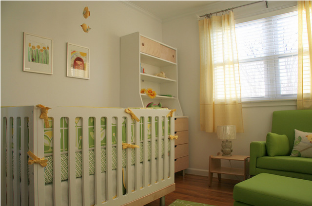 green nursery furniture. Chic Neutral Nursery Picture With Modern Furniture White And Bright Green Color Themes.PNG L