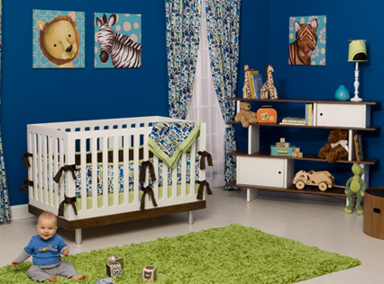 Dark blue nursery with animal themed decor ideas.PNG