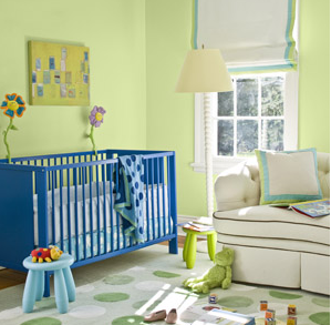 Simple nursery for baby boy with bright colors.PNG