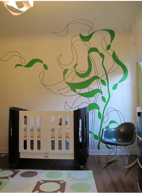 Modern design neutral nursery with very cool chic wall art.PNG