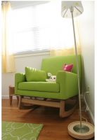 Cool bright green nursery rocking chair with a modern style.PNG