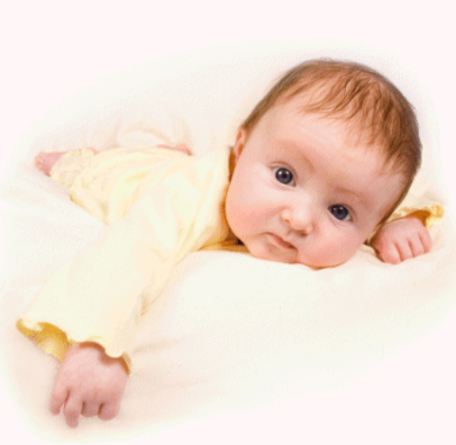 Very cute baby picture of a cutie in yellow.PNG