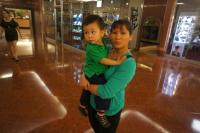 Darwin and Mommy at mall area in hotel.jpg