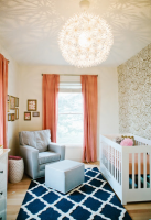 Modern nursery decor ideas with beautiful white floral chandelier.PNG