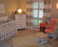 Nursery decor ideas picture_nursery with striped curtains in white and light grey.PNG