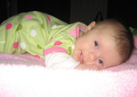 Baby girl cute pictures just chilling out on her blankie.PNG