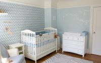 Baby boy nursery decoration with white and baby blue.JPG