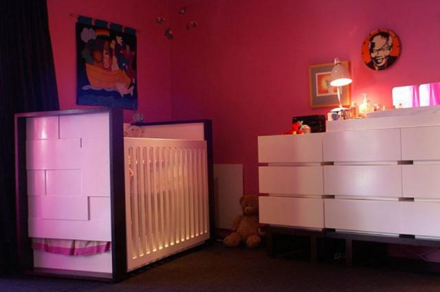 2015 girl nursery room decor with bright of colors.JPG