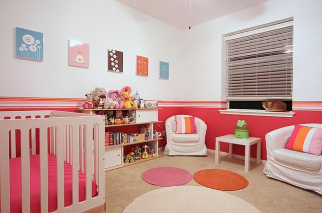 Chic girl nursery with modern kids furniture.JPG