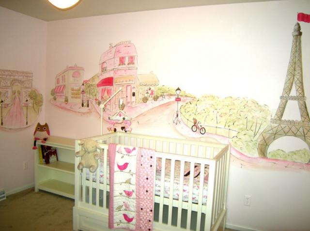 Cool unique nursery wall decals of city of Paris.JPG