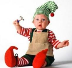 Baby Christmas Elf Costume pictures.JPG