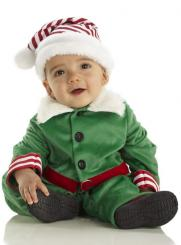 Baby boy in his cute Christmas Elf outfits picture.JPG