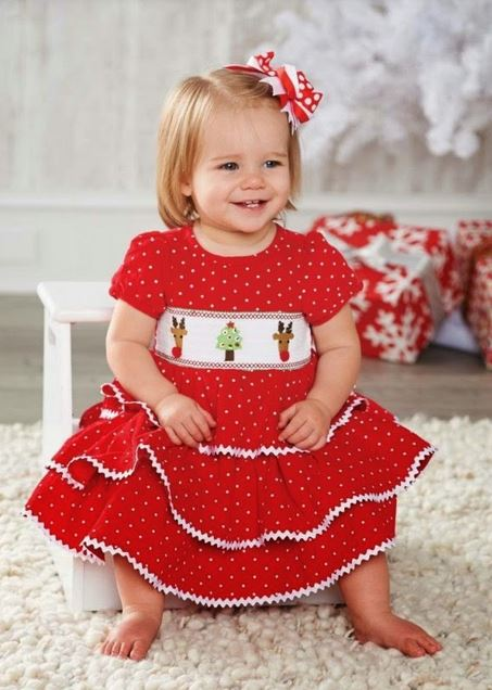 Toddler girl Christmas cheerful dresses photo.JPG
