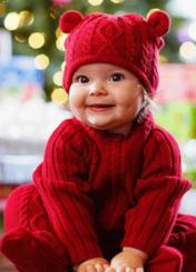 Wool Girl Christmas outfit with cute wool hat.JPG