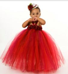 Toddler girls Christmas dress in red.JPG