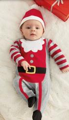 Baby Christmas elf outfit looking so cute.JPG