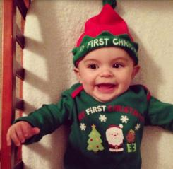 Baby elf first Christmas.JPG