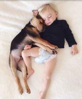 Toddler sleeping with his dog.JPG