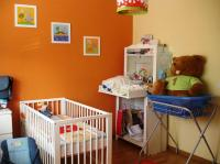 Nursery with bright colors decoration.JPG
