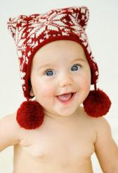 Baby with cute winter hat.JPG