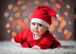 Baby Santa photo shoot picutres