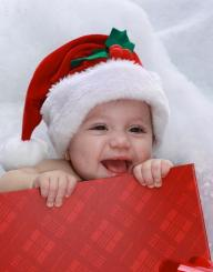 Happy baby Christmas photo shoot