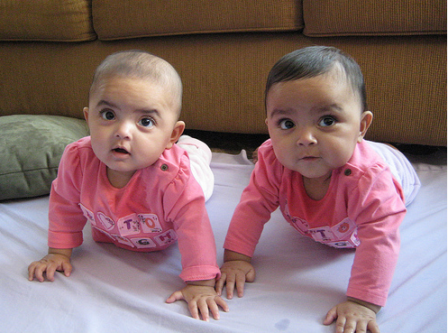 Picture of Indian girl twins baby in pink.PNG