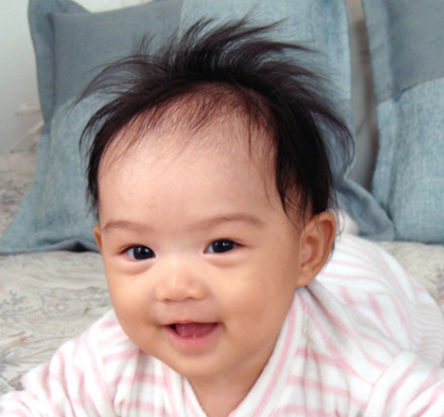 asian, spiky hair  Babies  Pinterest