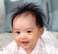 Cute Asian baby with spiky hairstyle looking so cute.PNG