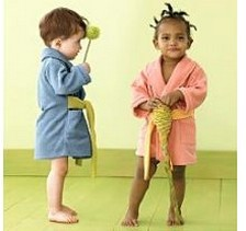 black baby girl with a cute pink robe.jpg