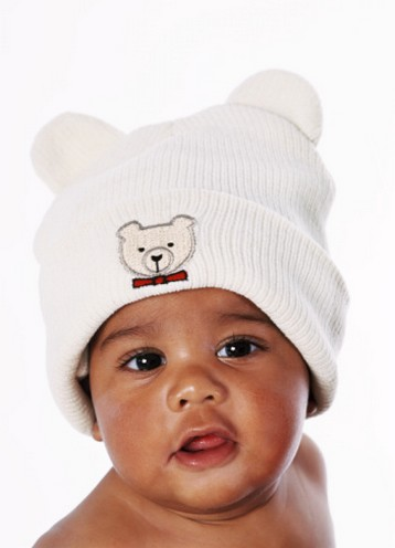 Photo of black baby w a adorable hat